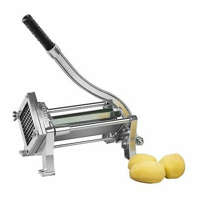 Manual Potato Chipper Vegetable Cutter Chip Stainless Steel 3 Blades New Compact