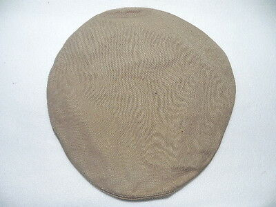 WWII US Navy Reserve Military Hat Cap Cover Size 7 Khaki Cotton