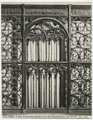 Vintage Photo, Architectural Detail Wrought Iron. Italy. Strong Image, B   W.