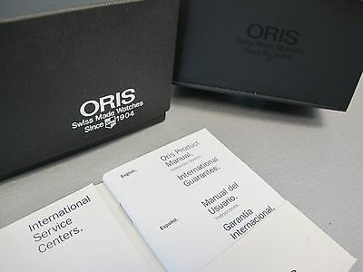 Used Genuine Oris Inner & Outer Wrist Watch Display Boxes With Booklet