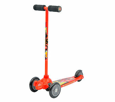 Cars 2 3-Wheel Kids Scooter with Non Slip Moulded Deck