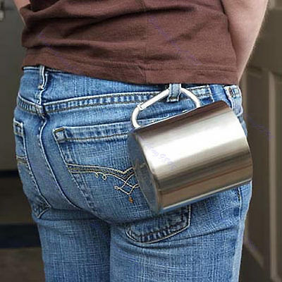 Travel Hook Wall Camping Cup Stainless Steel Outdoor Tea Mug