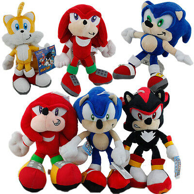 Sonic Knuckles Echidna Shadow Hedgehog Miles Tails Prower Plush Toy Selectable