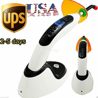 10W 2000MW Wireless Cordless LED Dental Curing Light Lamp Whitening 【USA  Ship】
