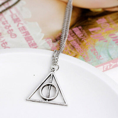 Movie  Fashion Deathly Hallows Hot Metal Silver Gift Pendant Necklace Gift