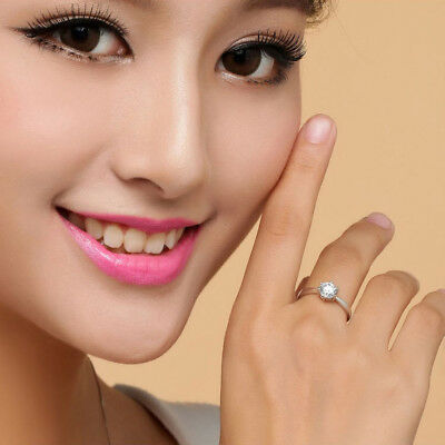 Fashion solid Ring womens Wedding Engagement gift size 5-8