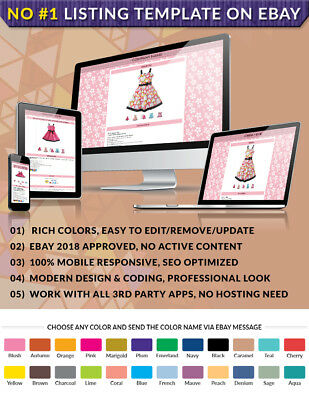 Auction Listing eBay HTML Template Design with fast delivery & FREE installation