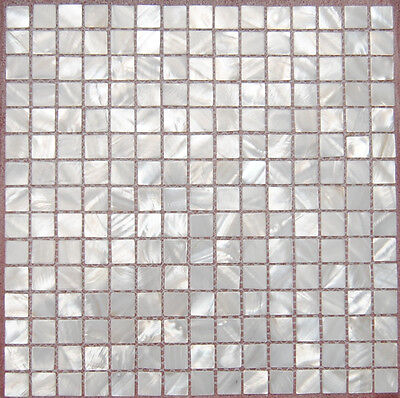 Mother Of Pearl Mosaic Tiles River Bed Nature Pearl Shell Mosaic Squre White20MM