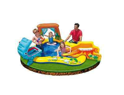 Baby Paddling Pool Inflatable Swimming Play Centre Water Pit Garden Dinosaur