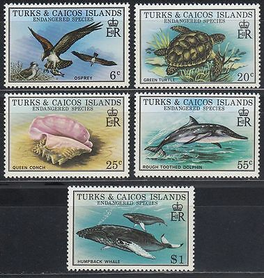 Turks & Caicos 1979 ** Mi.425/29 Tiere Animals Turtle Bird Whale Wal [sq5823]