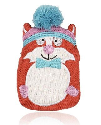 NPW Mini Hottie Adorable Knitted Cover Gel Hand Warmer: Funky Fox