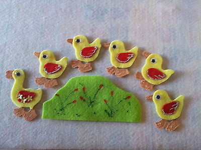 Felt Board Story Rhyme Teacher Resource- 5 Little Ducks