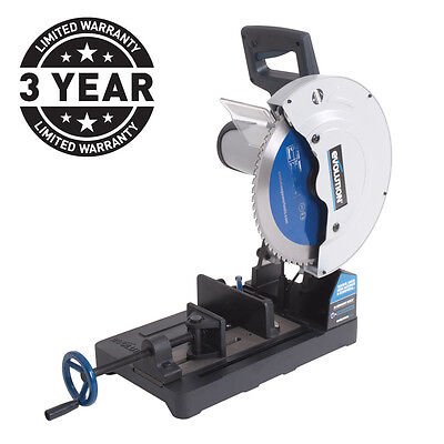 Evolution EVO355 240v raptor 355mm tct steel cutting saw chop 230v 3 yr warranty