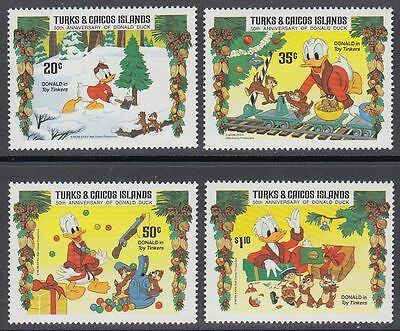 Turks & Caicos 1984 ** Mi.712/16 ohne 715 Disney Comics Donald Duck [sq5868]