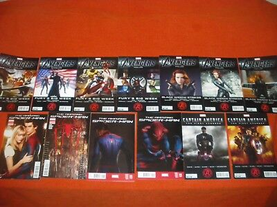Avengers Prelude 1 -4 2 3 Black Widow Strikes 1-3 Cap America 1 2 Spider-Man 1 2