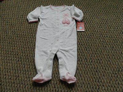 27c6ff434 CARTER S BALLERINA BALLET Shoe Terry Sleeper Pajamas Infant Baby ...