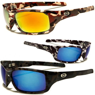145560781f Men Wrap Camouflage Camo Sport Sunglasses Duck Hunting Fishing Outdoor