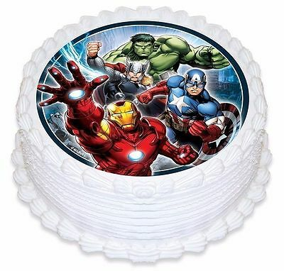 The Avengers Birthday Party Character Cake Icing Topper Edible Image New