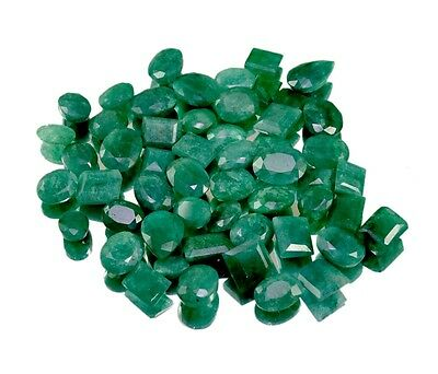 230ct 53pc Natural Green Emerald Faceted Loose Gemstones Wholesale Lot
