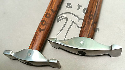 2 Pcs Jewelry Texturing Hammer Designing Forming Metal Silver Smith REPOUSSEE