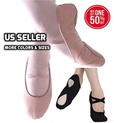 Ballet Yoga Gymnastics Dance Shoes Ballet Canvas Slipper Shoes New