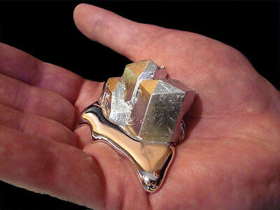 10 Grams of Magic Liquid Metal Melts at 29.76 Deg C (85.57 Deg F) Soft, Silvery