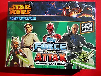 Topps Star Wars - Force Attax Serie 5 Clone Wars Trading Card Adventskalender