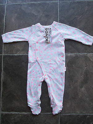 BNWT Baby Girl's Bonds Newbies Floral Coverall/Romper/Onesie Size 000