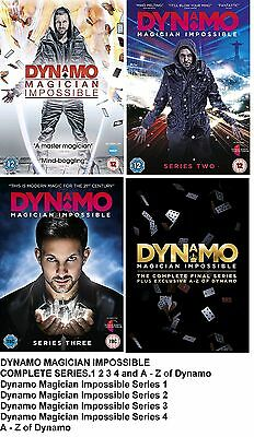 DYNAMO MAGICIAN IMPOSSIBLE COMPLETE SERIES COLLECTION 1 2 3 4 DVD UK Release R2