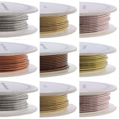 Beading Craft Wire Jewellery Making Non-Tarnish - 6 Colours - 4 Sizes
