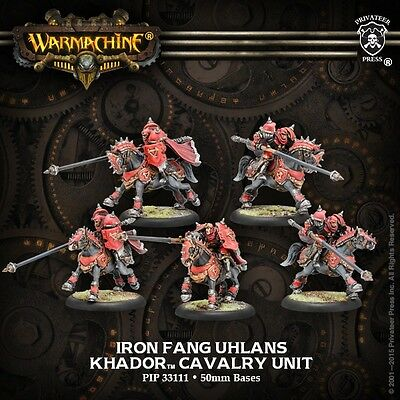 Warmachine: Khador: Iron Fang Uhlans Cavalry Unit (PIP33111) NEW