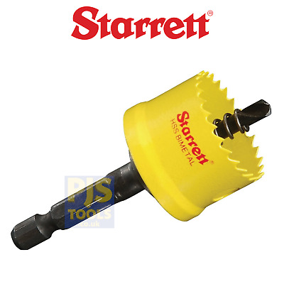 Starrett bi metal cordless smooth cutting holesaws complete with arbor 16-51mm