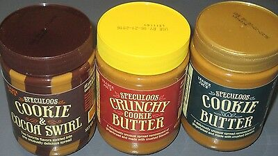 3 Trader Joe's Speculoos Cookie Butter, Cookie & Cocoa Swirl 14.1 oz each