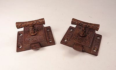 Pair of Antique Cabinet Latches