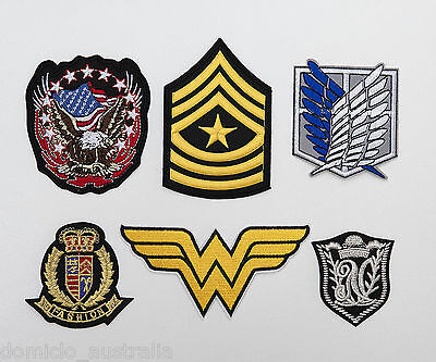 Embroidery DIY Sew Iron On Applique Patch Badge Emblem Logo