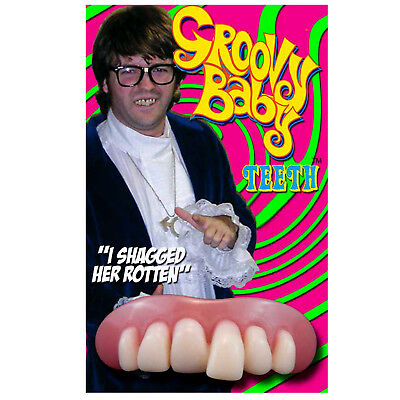 Austin Powers Deluxe Teeth Billy Bob Groovy Baby Fancy Dress Costume 60s