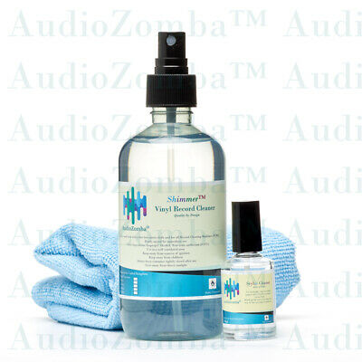 3 x 10ML TRIAL VINYL RECORD CLEANER FLUID CLEANING INCLUDES FREE MICROCLOTH !
