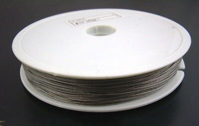 Tiger Tail Stainless Steel Coated with 0.50mm Beading Wire Silver 100 meter AAA