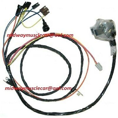 engine & front light wiring harness kit V8 70 Chevy Chevelle el camino HEI