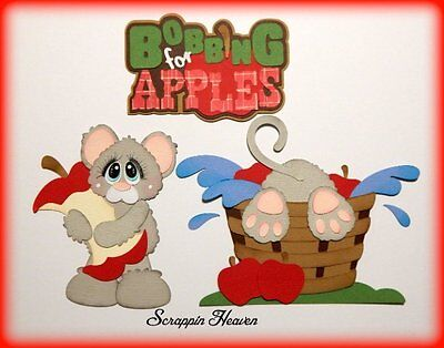 Bobbing 4 Apples premade paper piecing set scrapbook pages layout diecut fall