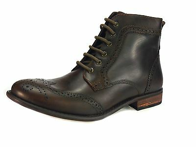 Red Tape Nant Brown Lace up Chelsea, Ankle Boots Brogue Mens Leather