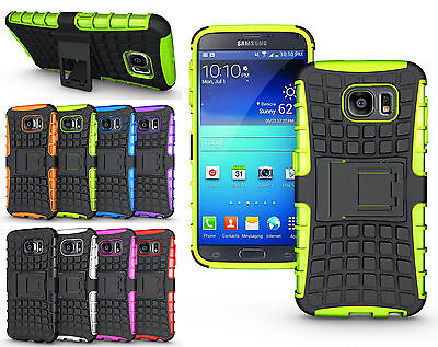 For Samsung Galaxy S6/G9200 Hybrid Rubber ShockProof Protective Hard Case Cover