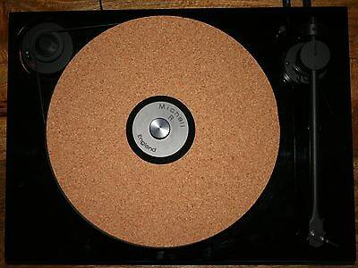 PREMIUM UPGRADE 3mm CORK AUDIO MAT DRASTICALLY IMPROVES RECORD PLAYER TURNTABLE