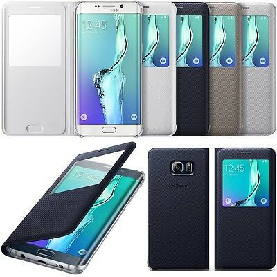 Genuine Samsung S VIEW FLIP CASE Galaxy S6 EDGE + PLUS smartphone cover original