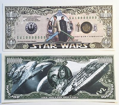 RARE: STAR WARS $1,000,000 N/Note, Movies/Film Series Buy 5 Get one FREE