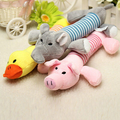 Peluche Sound Chew Squeaker Squeaky Toys Pig Elephant Duck Per Cane Gatto Pet