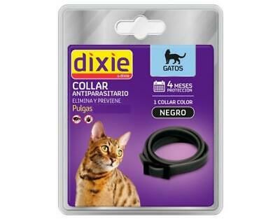 Collar gatos Dixie antiparasitario garrapatas (negro) anti pulgas antiparasitic