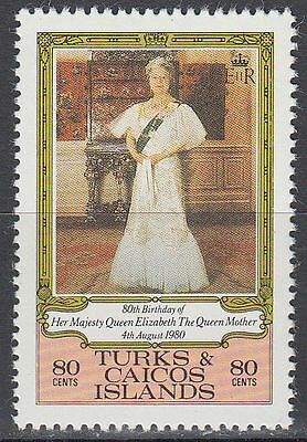 Turks & Caicos 1980 ** Mi.496 Queen Mother Elizabeth Königin Elisabeth [sq5883]