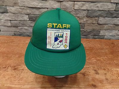 Boy Scouts Sagamore Council Trucker Hat/Cap 1984 iNDIANA Camp Crossland Staff