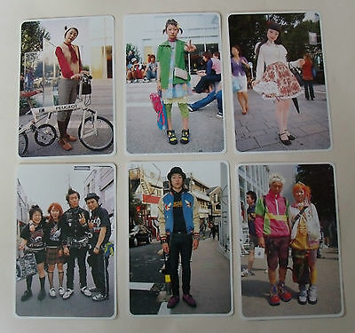 x6 FRUITS MAGAZINE POSTCARDS Lot/ Set Japanes Fasion Decora Cosplay Lolita punk